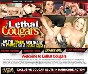 Lethal Cougars | Horny Mature Cougars and MILFS Get Their Pussies Fucked